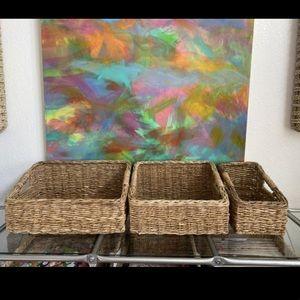 Threshold Seagrass / Water Hyacinth Basket Set
